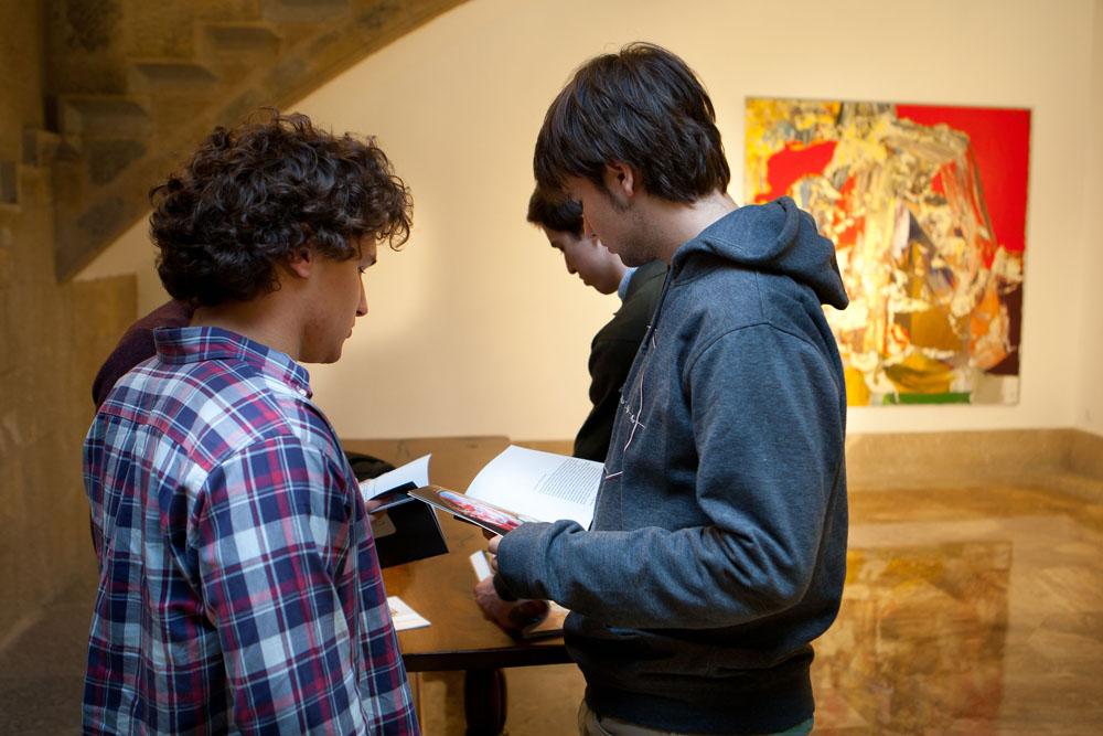 La exposición cuenta con un dossier explicativo de la obra de Barrio.