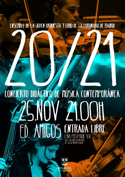 Concierto Ensemble 20/21 de la JORCAM. Colegio Mayor Belagua. Pamplona. Universidad de Navarra