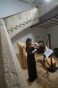 Concierto violín y arpa. Colegio Mayor Belagua